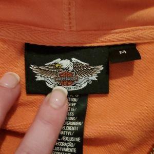 Harley-Davidson Tops - Harley Davidson Orange zip-up